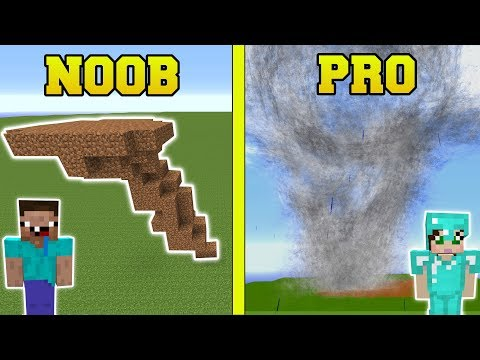 Minecraft: NOOB VS PRO!!! - TORNADOES IN MINECRAFT!