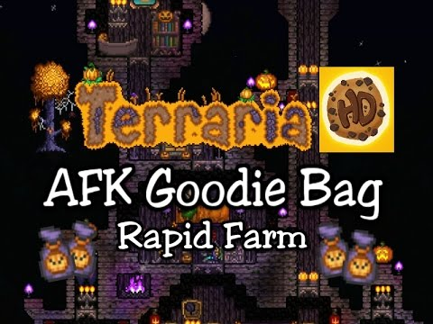 Terraria 1.3 Easy AFK Rapid Goodie Bag Farm (1.3 halloween update)