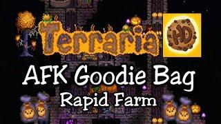 Terraria 1.3 Easy AFK Rapid Goodie Bag Farm (1.3 halloween update)