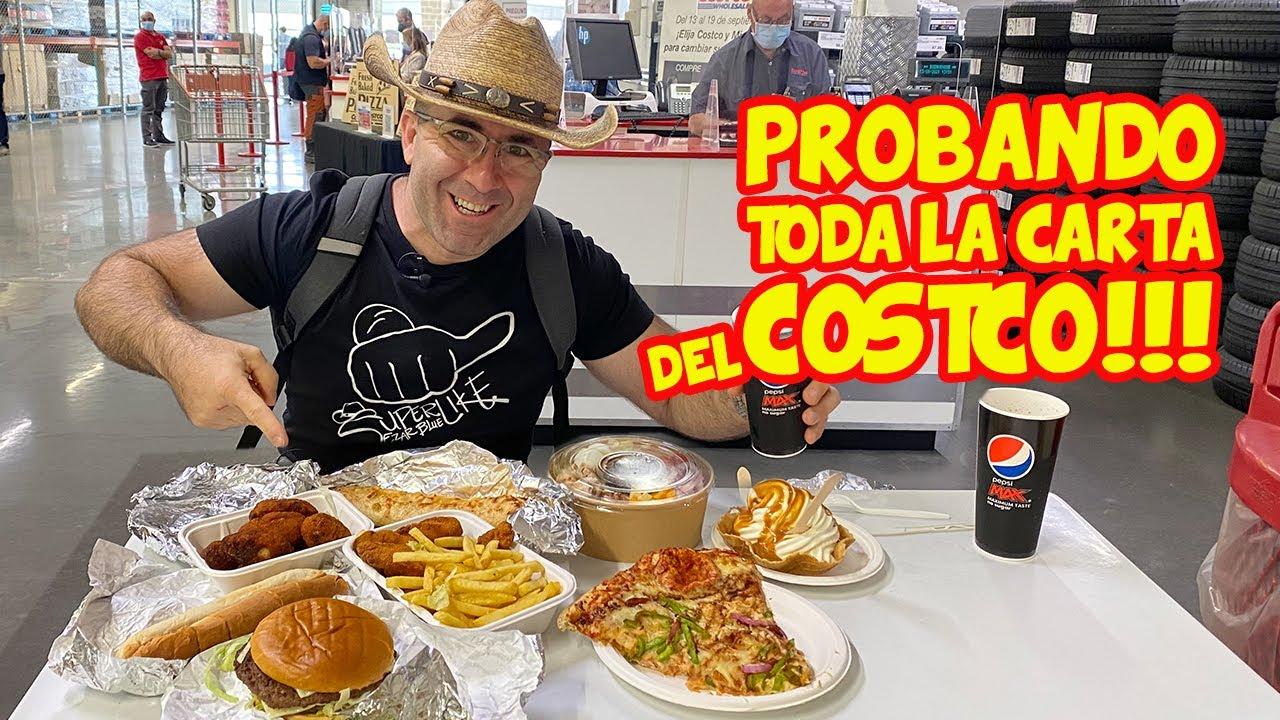 Probando TODA la CARTA del COSTCO: un SUPERMERCADO AMERICANO en ESPAÑA