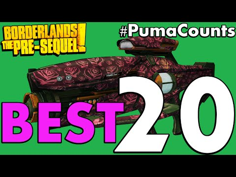 Top 20 Best Guns And Weapons In Borderlands: The Pre-Sequel! #PumaCounts
