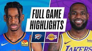 THUNDER at LAKERS | FULL GAME HIGHLIGHTS | February 8, 2021