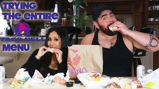 TRYING THE ENTIRE TACO BELL MENU   SNOOKI AND JOEY