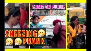 SNEEZING PRANK (छींकना) | Prank in India | Gone wrong |  Funny reaction | Greedy Genius