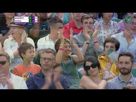 Rafa Nadal vs Sam Querrey Wimbledon 2019 quarter-final highlights
