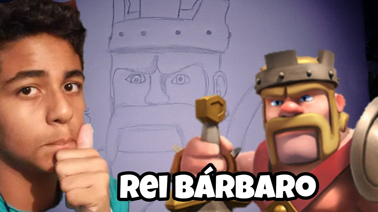 desenho acelerado rei bÁrbaro clash of clans youtube