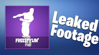 Freestylin' Emote Footage [LEAKED] Fortnite