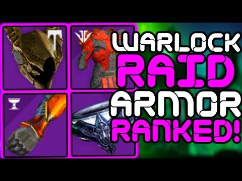 Destiny - Ranking ALL 11 WARLOCK Raid Armor Sets!!