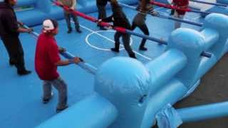 Human Foosball Game Rental, Rent Human Foosball Interactive Game 800-873-8989