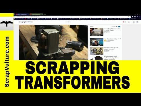 Scrapping Transformers - Cellphone Gold Mines - Silver Contacts - Brass Plugs - these 4 YOUTUBERS!!!