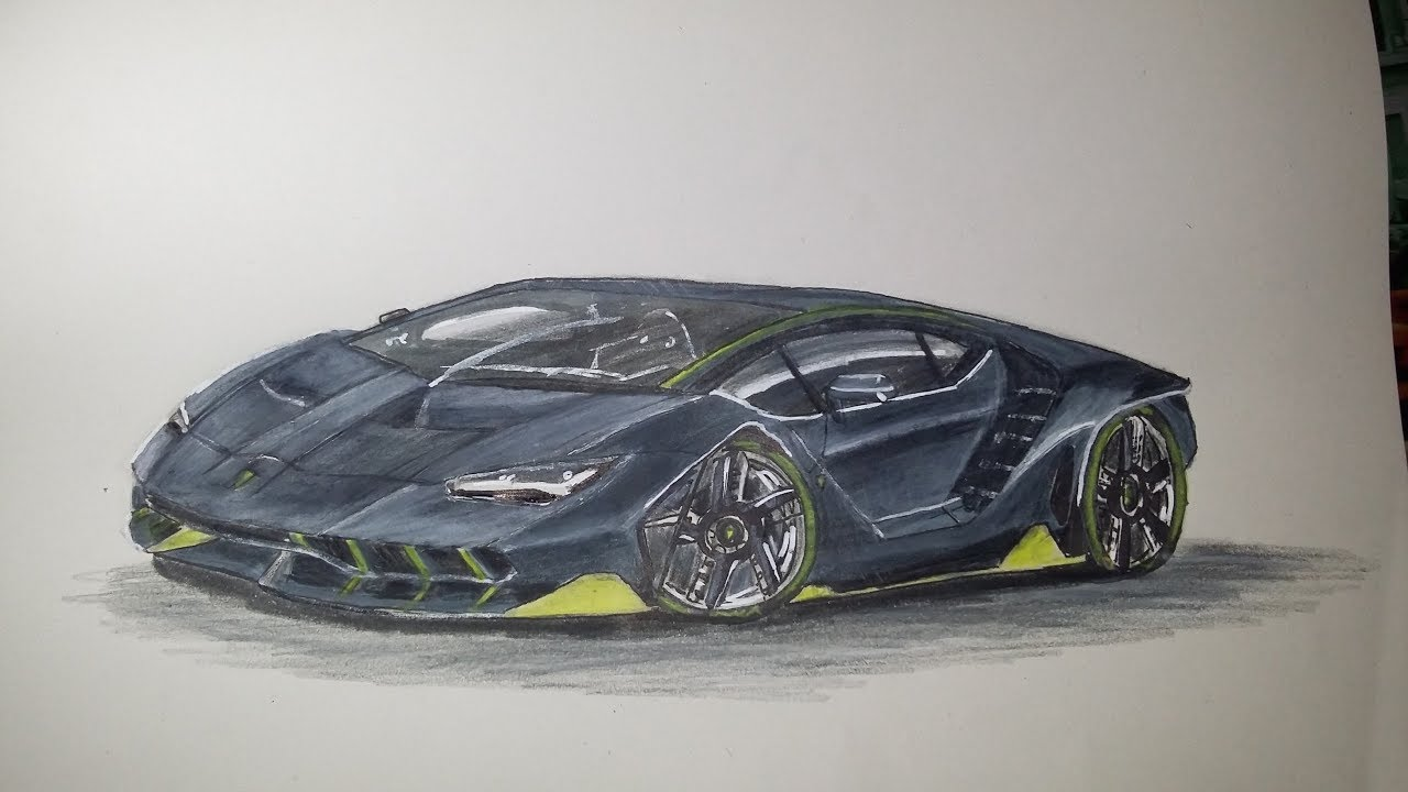 dessin lamborghini centenario youtube. Black Bedroom Furniture Sets. Home Design Ideas