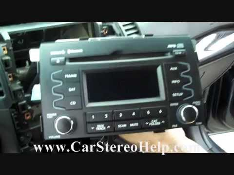 how to kia sorento troubleshooter and stereo removal 2011 - 2013 repalce  repair - youtube