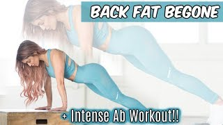 Back Workout!! Intense Weighted Ab Workout!