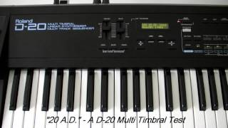 Roland D-20 Demo / Test. (Multi-Timbral)