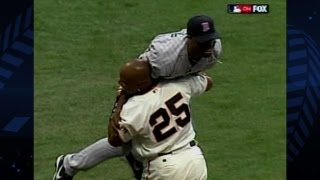 Torii Hunter robs Barry Bonds of All-Star Game home run