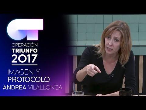 Clase de protocolo durante la comida con Andrea Villalonga  OT 2017