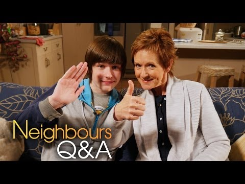 Neighbours Q&A: Jackie Woodburne Susan and Calen Mackenzie Bailey Part 2