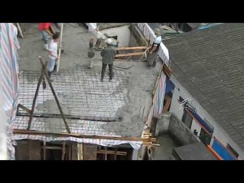 Vietnam; Hanoi House Construction (Or They Don't Sleep In Saturday Morning)