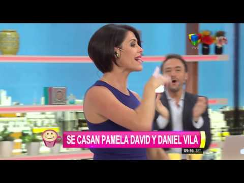 Pamela David se casa con Daniel Vila