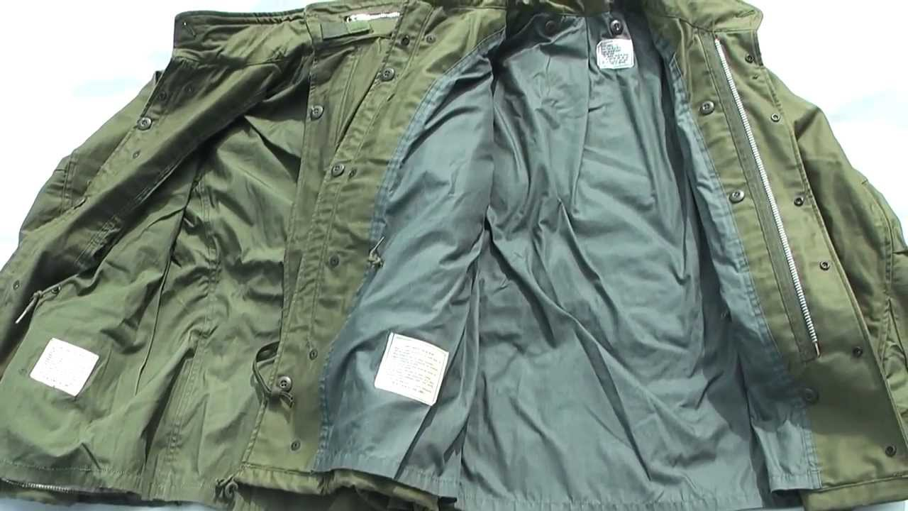 a450a162561 Vintage 1968 pattern M-65 Field Jacket - YouTube
