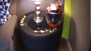 How To Make An End Table Out Of Nascar Tires And A Piece Of Glass