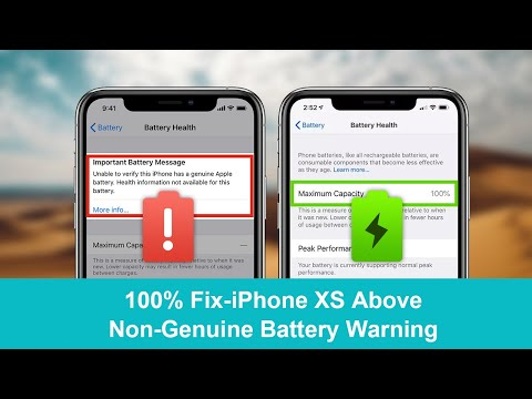 100% Fix-iPhone Non-Genuine Battery Warning of Important Battery Message