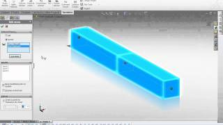 Solidworks simulation: Simply supported beam bending with beam mesh.