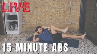 15 Minute Live Abs Workout | The Body Coach