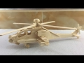 DIY Miniature Apache ~ 3D Wood Craft Construction Kit