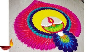 Very Easy and colourful Diwali special Rangoli Designs 2018 thumbnail