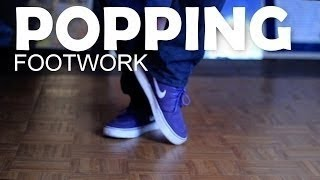 How to Dance | Step-by-Step Popping Footwork Tutorial thumbnail
