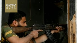 Syrian rebels, army clash near Assad heartland 2017 Video