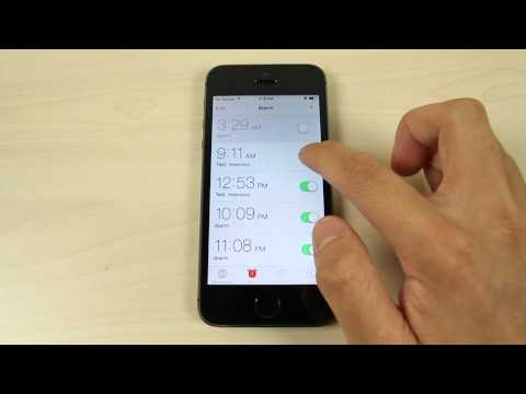 How To Set The Alarm On Apple Iphone 5s