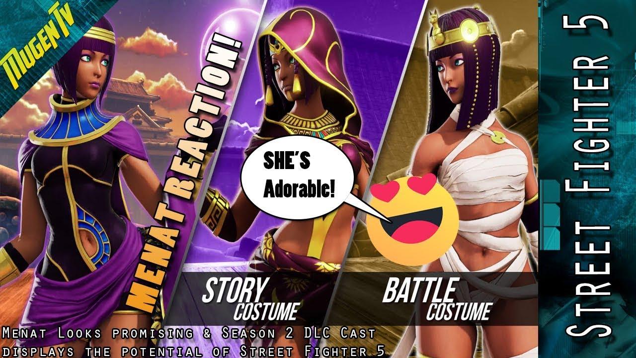 Street Fighter 5 Menat Is Adorable Season 2 Cast Displays Sfv