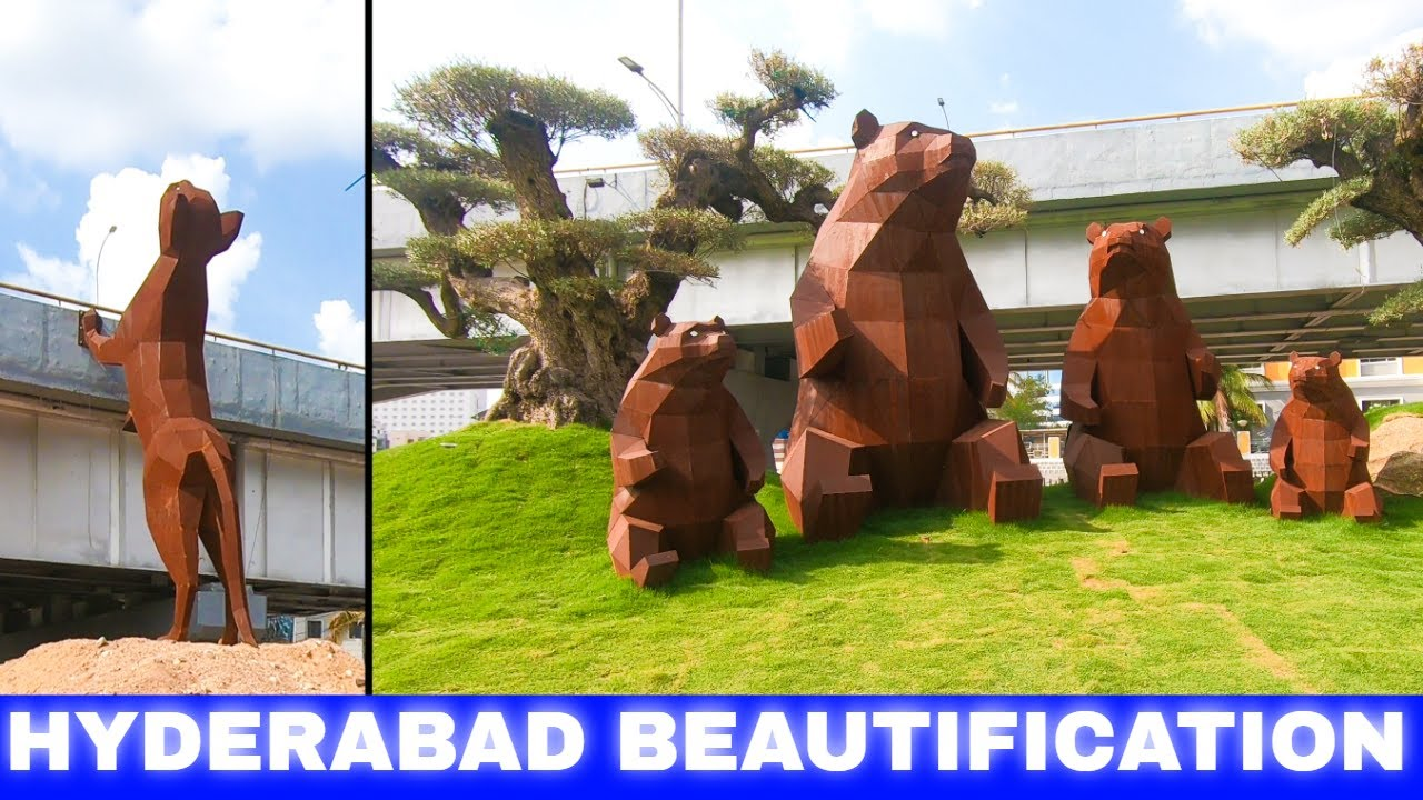 #Hyderabad #Beautification │ Chowrasta beautification