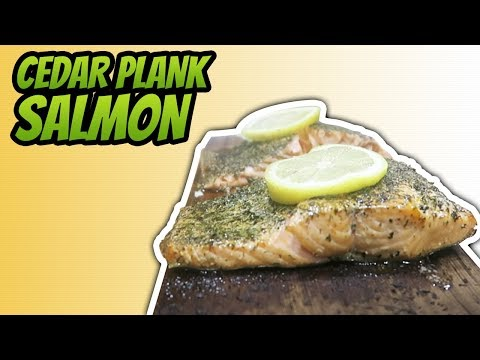 How To Bake Salmon On A Cedar Plank In An Oven (HEALTHY SALMON RECIPE)