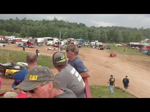 Street stock hot laps Midway Speedway 6-5-16