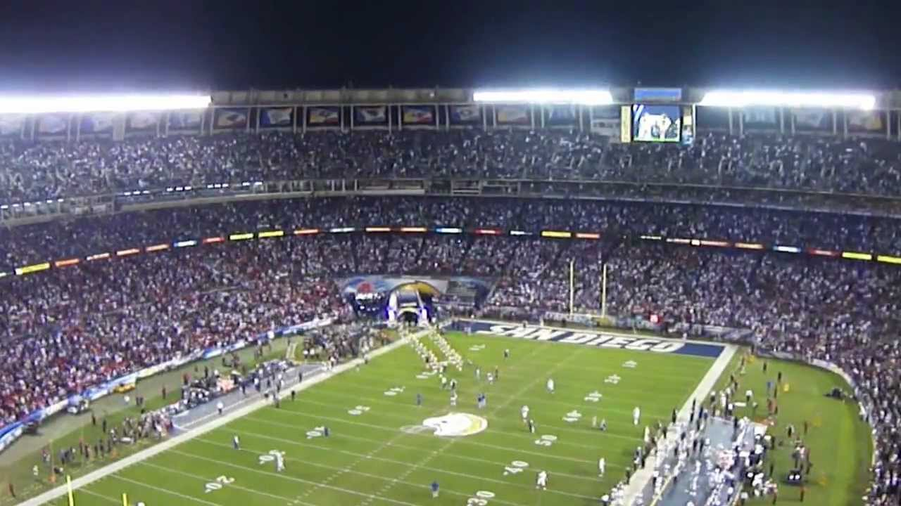 Raiders vs chargers intro at Qualcomm Stadium 11-10-2011 ... Qualcomm Stadium Chargers Wallpaper