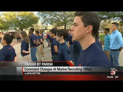 Change of command for the Marine Corps recruiting office in Lafayette