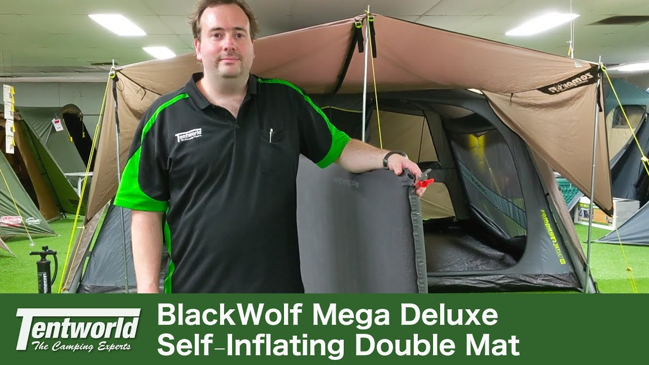 10cm thick Black Wolf MEGA Deluxe DOUBLE Self-inflating Mat