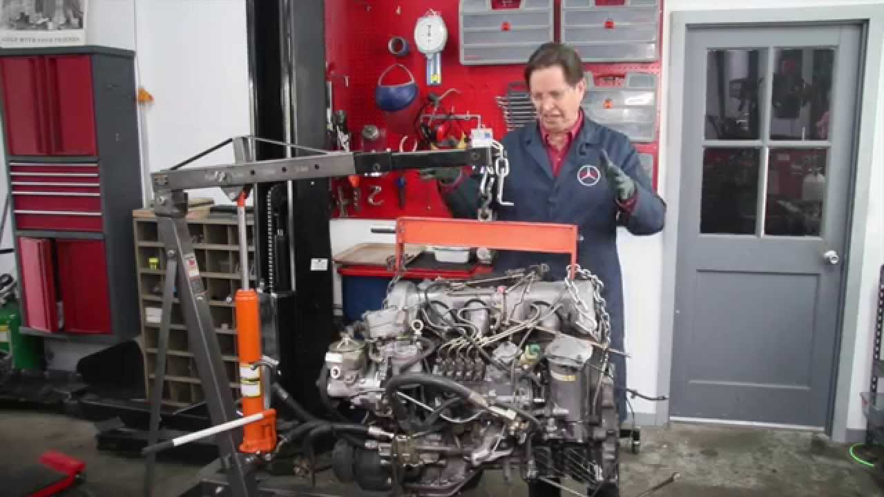 Sel Engine Swap Series Mercedes W126 300sd Into A W123