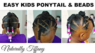 Easy Ponytail Style | Very Fine Natural Hair | Kids Natural Hair Care