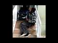 How to get downstairs in a wheelchair *wheelchair skills