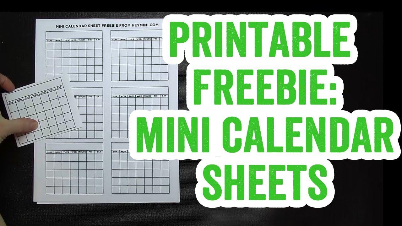 image regarding Printable Mini Calendar titled No cost Printable Mini Calendar