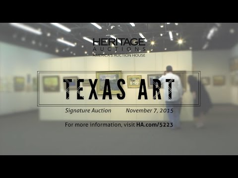 Texas Art Signature Auction - November 7, 2015