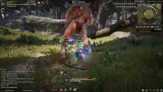 Black Desert Online Gameplay Forest Giant Battle