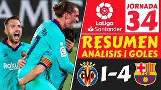 VILLARREAL vs BARCELONA (1-4) Resumen LIGA ESPAÑOLA hoy [LALIGA Santander JORNADA 34] goles 2020 ⚽️🔥