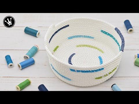 DIY – Rope bowl nähen I Rope basket I Seilkorb nähen I Gewinnspiel Auflösung [GERMAN]