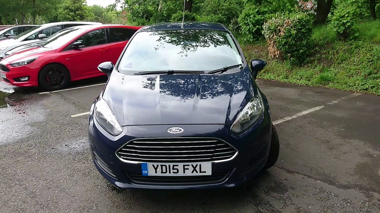 Used Ford Fiesta 1.25 82 Style 3dr Blazer Blue 2015 - YouTube