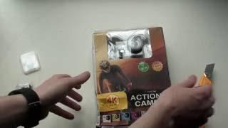 Розпакування екен Н2 Ультра HD 4К WiFi дій камери - чорний
